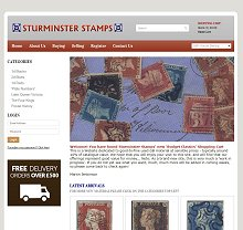 Sturminster Stamps Shopping Cart