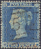 1854 2d Pale Blue SG20 Plate 4 'HA'