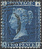 1868 2d Deep Blue Plate 12 'AF' Used Abroad in Constantinople