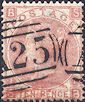 1867 10d Pale Red-brown SG113 Plate 1 'SB'