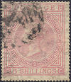 1874 5s Pale Rose SG127 Plate 2 'BC'