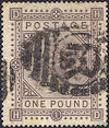 1878 £1 Brown-lilac SG129 Plate 1 'HD'