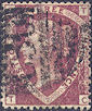 1870 1½d Lake-red G6(2)/Z56 Plate 3 'TC' Used Abroad