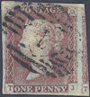 1848 1d Pale Red-brown Plate 81 'TJ'