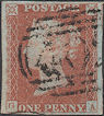 1844 1d Red Plate 45 'GA' Constant Variety