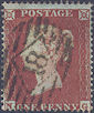 1854 1d Red C1 Plate 170 'NG'