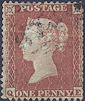 1855 1d Red C2 Plate 194 'QE'