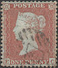 1855 1d Red C2 Plate 200 'EC'
