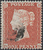 1854 1d Red C1 Plate 157 'DG'