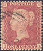 1857 1d Rose-red C10 Plate 36 'IL'