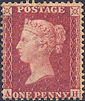 1861 1d Rose-red C12 Plate 50 'AH'