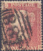 1857 1d Rose-red C11 Plate 45 'AK'