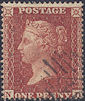 1855 1d Red C4 Plate 15 'ND'