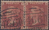 1855 1d Red C3 Plate 13 'NE-NF' PAIR