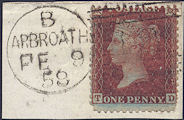 1855 1d Red C3 Plate 18 'TD' piece