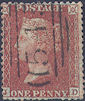 1855 1d Red C3 Plate 21 'JD'