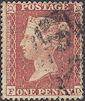 1855 1d Red C4 Plate 2 'FD'