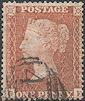 1855 1d Red C5 Plate 10 'GE'