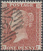 1855 1d Red C5 Plate 2 'DJ'