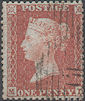 1855 1d Red C6 Plate 15 'MD'