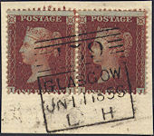 1855 1d Red C8 Plate 22 'II-IJ'