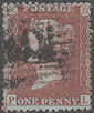 1855 1d Red C7 Plate 22 'PL'