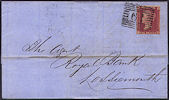 1858 1d Rose-red C11 Plate 55 'FK'