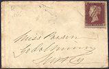 1855 1d Red C2 Plate 194 'HB'