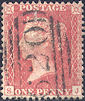 1857 1d Pale Red C9(3) Plate 33 'SJ'