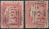 1857 1d Pale Rose C9(4)/Rose-red C10 Plate 55 'SB' Matched, Re-entry
